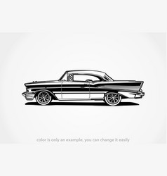 classic car silhouette vector image