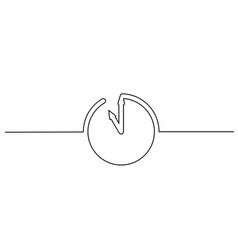 clock with arrows icon on white background vector image