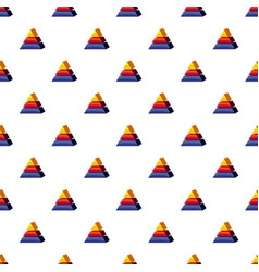 Colorful triangle divided pattern vector