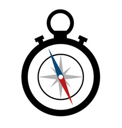 compass device icon vector image vector image
