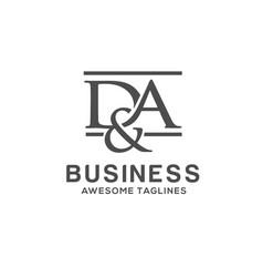 da letter logo design vector image