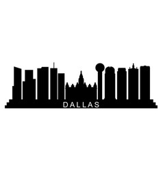 dallas skyline vector image