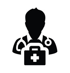 doctor icon male person profile avatar symbol vector image