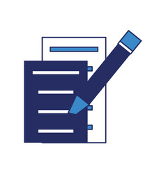 document pages and marker icon vector image