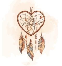 Dreamcatcher Heart vector image