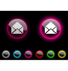 e-mail button vector image