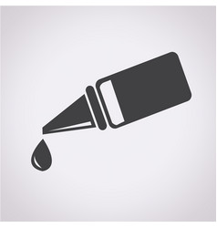 ear or eye drop icon vector image