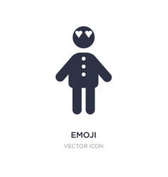 Emoji icon on white background simple element vector