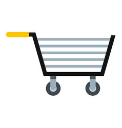 empty steel trolley icon isolated vector image