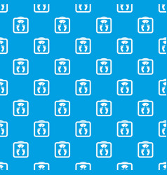 Floor scales pattern seamless blue vector