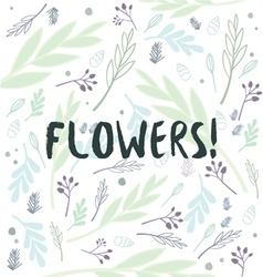 Flowers pattern background vector