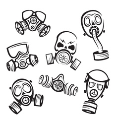 Gas masks vector