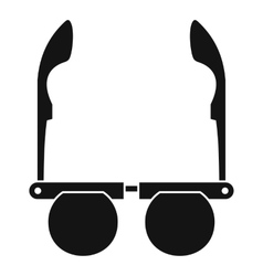 Glasses with black round lenses icon simple style vector