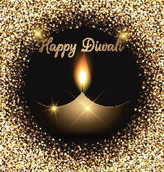 Glittery Diwali celebration background vector image