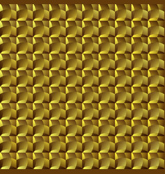 golden geometric seamless mosaic pattern vector image