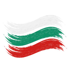 grunge brush stroke with national flag of bulgaria vector image