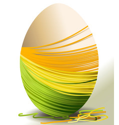 Handcraft Easter egg vector image vector image