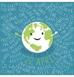 Happy Earth Earth smile Happy Earth Day 22 Apri vector
