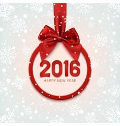 Happy New Year 2016 round banner vector image