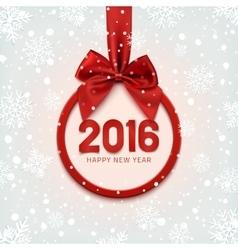 Happy New Year 2016 round banner vector