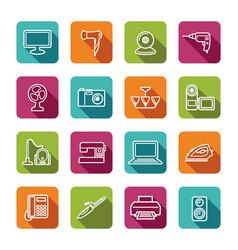 home appliances vector image