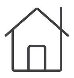 home line icon web and mobile house sign vector image