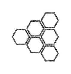 Honeycomb sign black icon from many vector