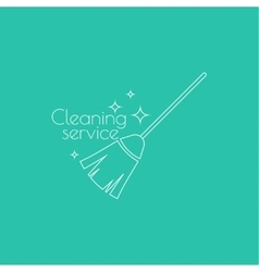 icon hand brooms vector image