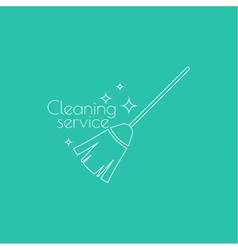 icon hand brooms vector image