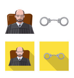 Isolated object law and lawyer symbol vector