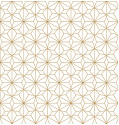 japanese pattern gold geometric background vector image