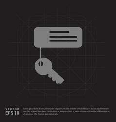 Key chain icon - black creative background vector