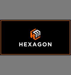 Km hexagon logo design inspiration vector