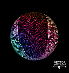 luxury sphere with swirled stripes glowing vector image