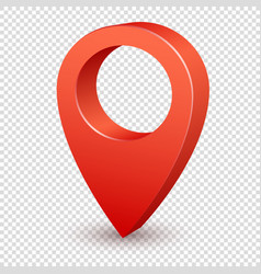 Map pointer 3d pin pointer red pin marker for vector