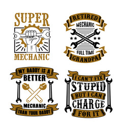 mechanic quote and saying set vector image