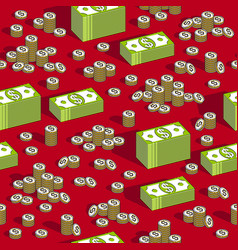 Money cash seamless background backdrop for vector