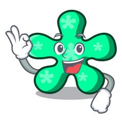 okay free form character cartoon vector image