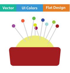 pin cushion icon vector image