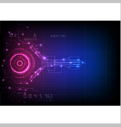 pink blue futuristic circuit technology vector image
