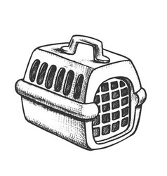 Plastic carrier for domestic animal ink vector