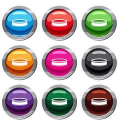 Puck set 9 collection vector