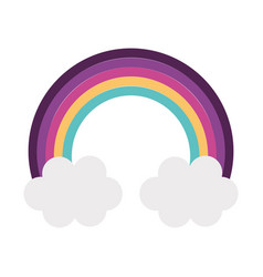 Rainbow sky isolated vector