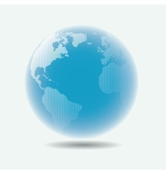 Raster linear globe with blur effect vector image