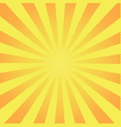 retro rays comic yellow background raster vector image