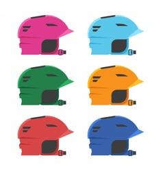 Riding Helmets Set vector