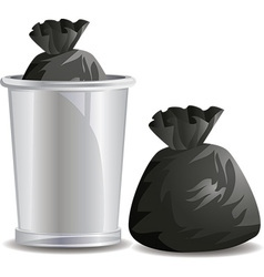 Rubbish bags vector