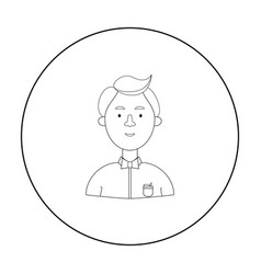 scientist icon in outline style isolated on white vector image