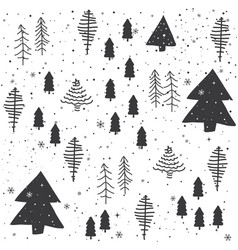 Seamless abstract christmas trees pattern vector