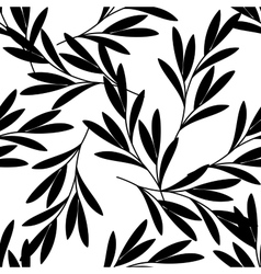 Seamless background with branch of a plant vector image